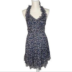 MM Couture Miss Me Silk Chiffon Halter Dress Sz M